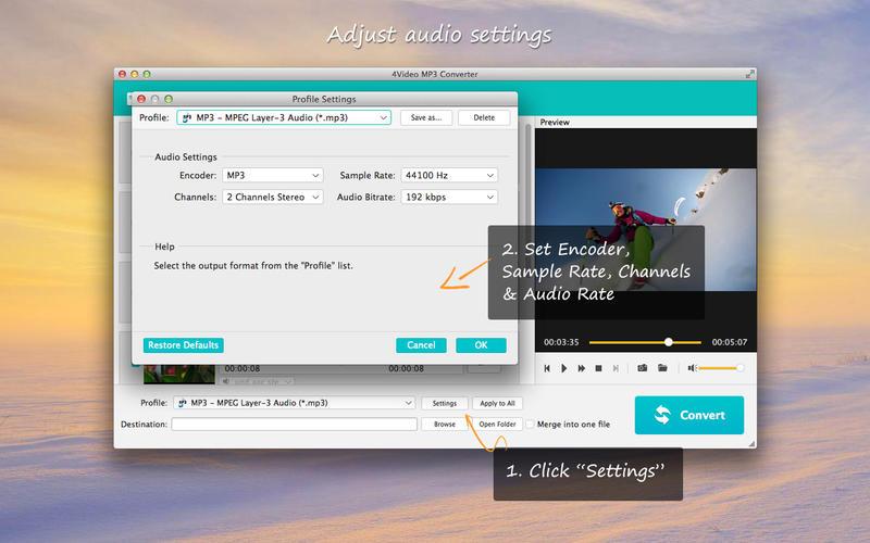 4Video MP3 Converter- Video/Audio to MP3 Converter Screenshot