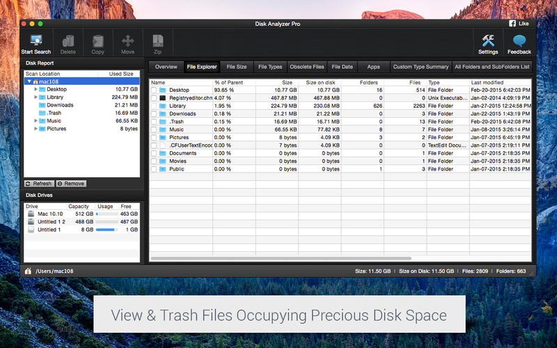 Disk Analyzer Pro Screenshots