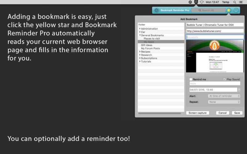Bookmark Reminder Pro Screenshot - 3