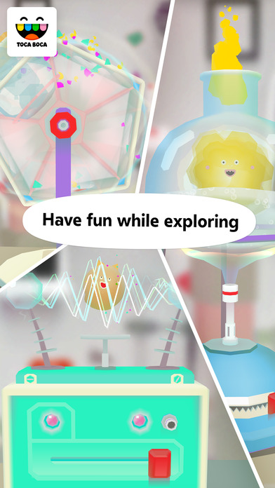 Screenshots of Toca Lab for iPhone
