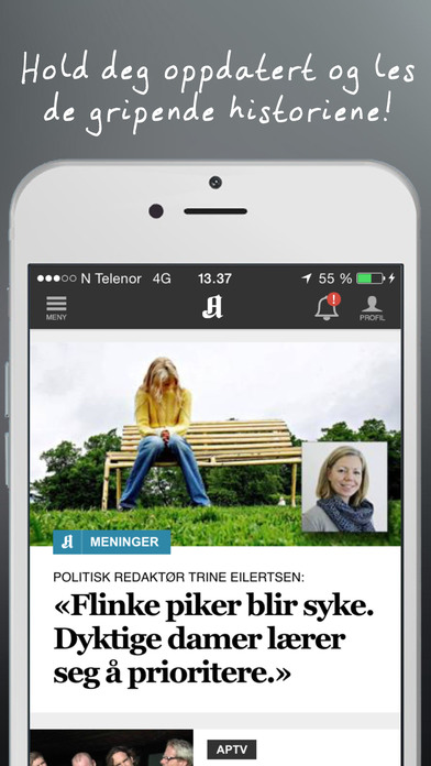 Aftenposten for iPhone iPhone Screenshot 2