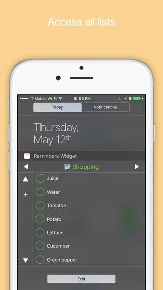 Reminders Widget Screenshots