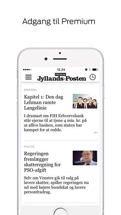 Jyllands-Posten Nyheder iPhone Screenshot 2