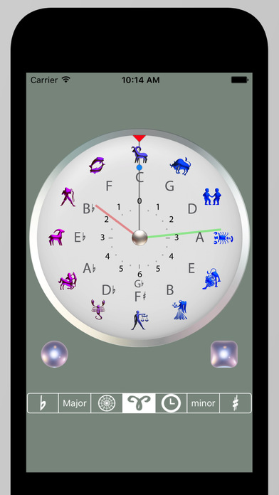 Circle of 5ths Clock Screenshots