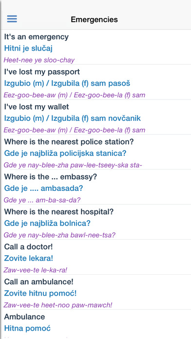 Serbian Dictionary Free iPhone Screenshot 5