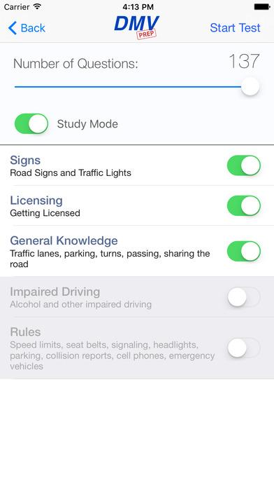DMV Test Prep - New Mexico iPhone Screenshot 2
