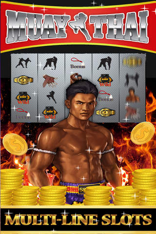 Muay Thai Kick Boxing Fight SLOTS - Casino slot machines free download with bonus games screenshot 1