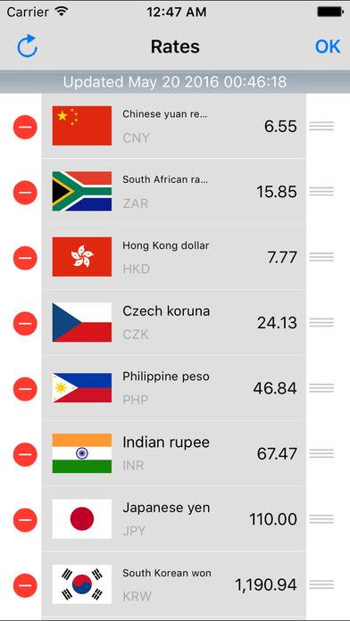 Dollar Currency Converter iPhone Screenshot 3