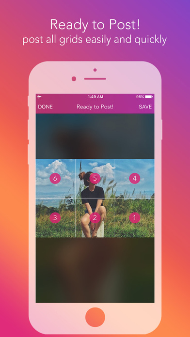 Screenshot for Griddy Pro - Split Pic in Grids For Instagram Post in South Africa App Store