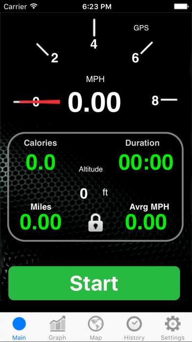 Run Walk Bike Meter Free iPhone Screenshot 1