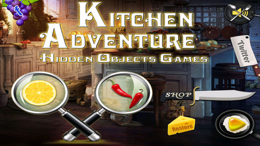 Hidden Objects : Kitchen Adventure Screenshot