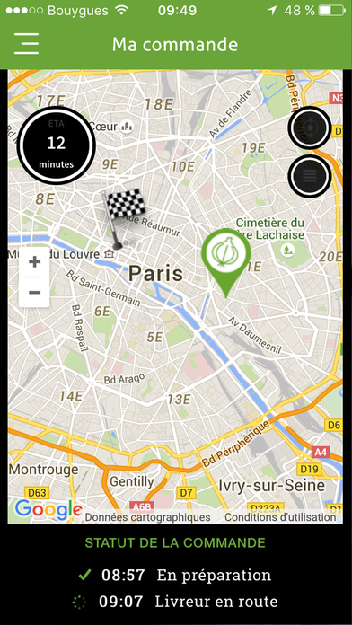 Pickles - repas équillibrés livrés en 20 minutes Apps free for iPhone/iPad screenshot