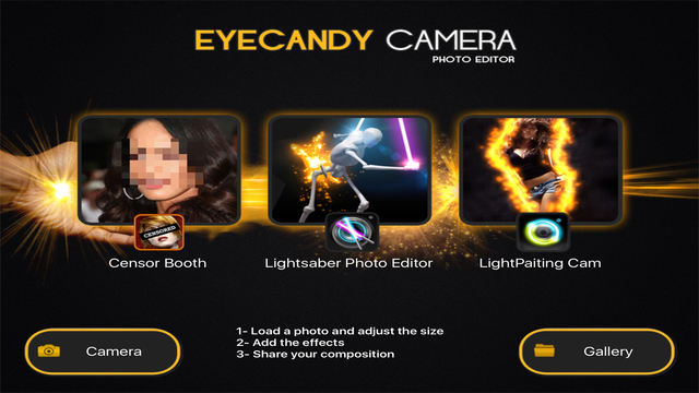 EYE CANDY CAMERA - Magic Photo Editor , Eyecandy Cam Filters & Lens Effects Fx Screenshots