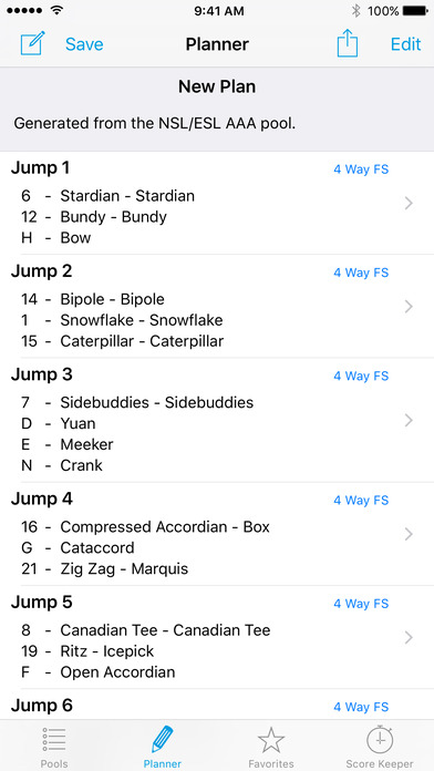 Skydive Planner iPhone Screenshot 1