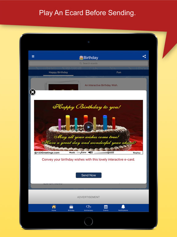 123Greetings Ecards Birthday Wishes Love More on the App Store – Ipad Birthday Card