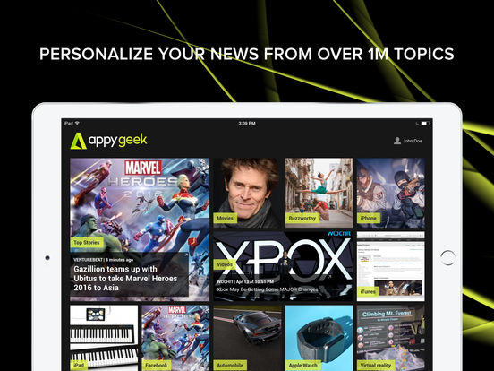 Appy Geek – tech news screenshot