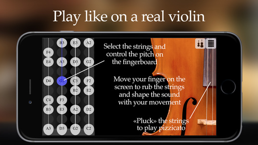 FingerFiddle - Play music like on a real violin Screenshots