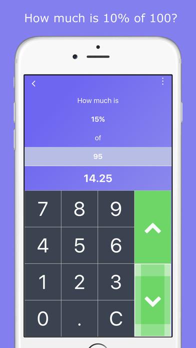 Easy Percentage Calculator iPhone Screenshot 2