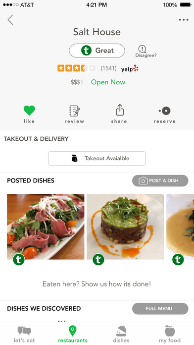 Tasteful – Healthy Restaurant Finder For Your Diet screenshot