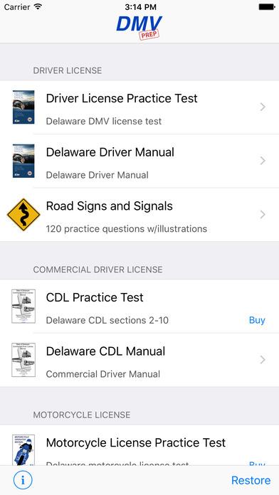 DMV Test Prep - Delaware iPhone Screenshot 1