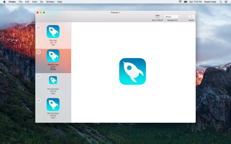IconKit : The Icon Resizer for App Development Screenshots