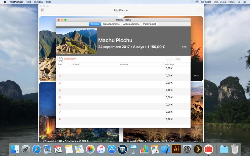 Trip planner - Travel planning app скриншот программы 3