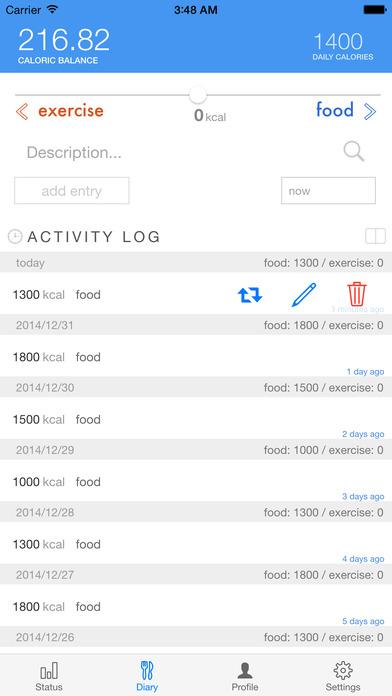 ChronoBurn Calorie Counter Screenshots