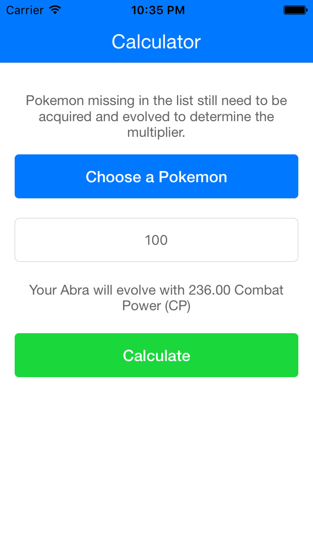 evolution calculatore for pokemon go multiplier find out level by