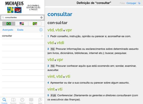 Michaelis Moderno Dicionário de Português e Inglês iPad Screenshot 1