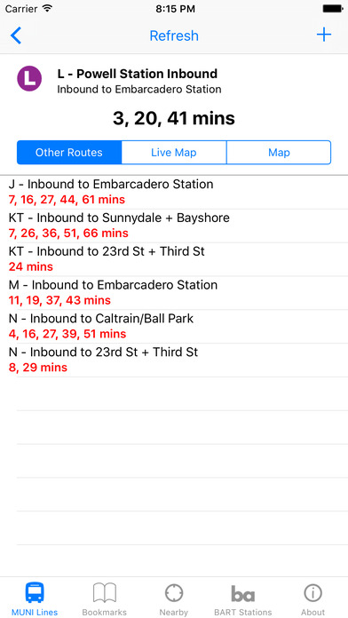 MuniApp iPhone Screenshot 3