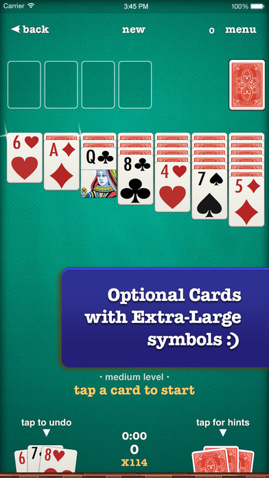 Screenshots of ▻Solitaire for iPhone