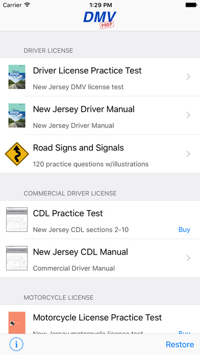 New Jersey Driver Test iPhone Screenshot 2
