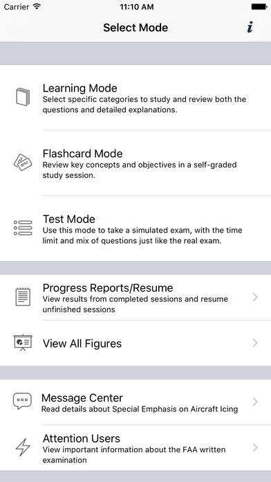 Study Buddy Test Prep (FAA Instrument Pilot) iPhone Screenshot 1