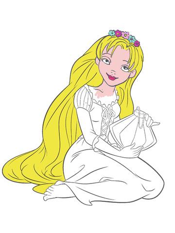 长发公主涂色儿童画画游戏 - 绘画涂手简书涂鸦画板软件