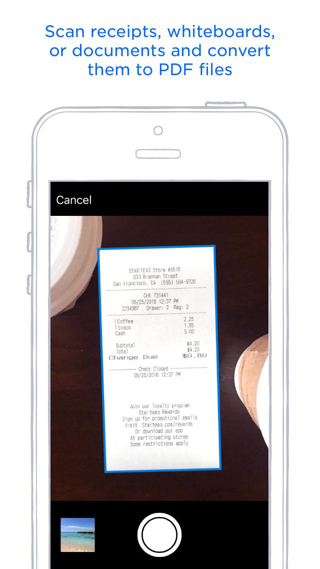 Screenshots of Dropbox for iPhone
