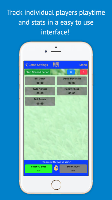 Soccer Stats Recorder 3000 - The BEST Statistic, Playtime, Possession Tracker / Logger in the app store! Screenshots