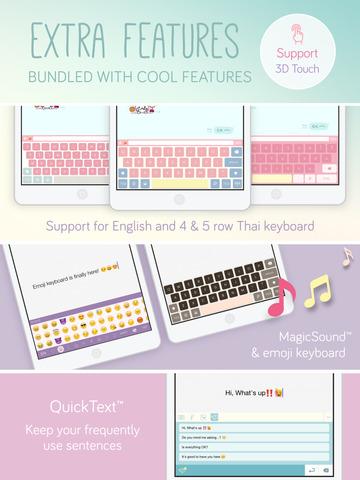 Pastel Keyboard Themes Extension - 100+ Cute Colorful Keyboard Skins Design Screenshots
