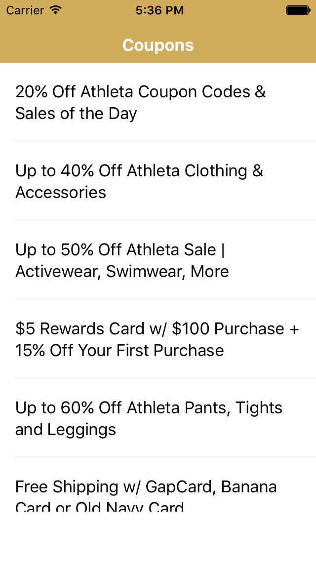 Athleta coupon code