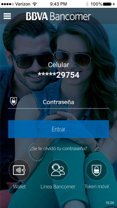 Bancomer móvil iPhone Screenshot 1