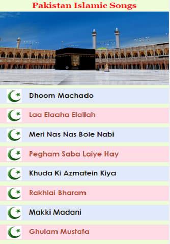 Pakistan Islamic Songs screen
