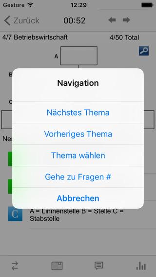 e.xam MarKom Zulassungsprüfung iPhone Screenshot 4