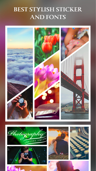 After Frame 365 Pro - Photo Collage Editor & Layout & beauty Camera & sticker Screenshots