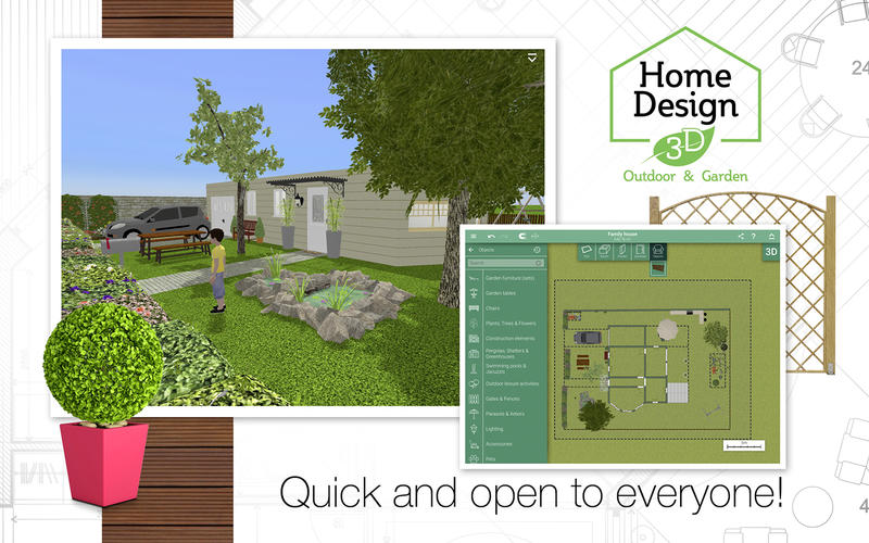 Home Design 3D Outdoor & Garden for Mac v4.0.2 激活版 – 3D室外布局设计工具-爱情守望者