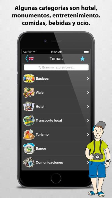 Traductor de viaje iPhone Screenshot 3