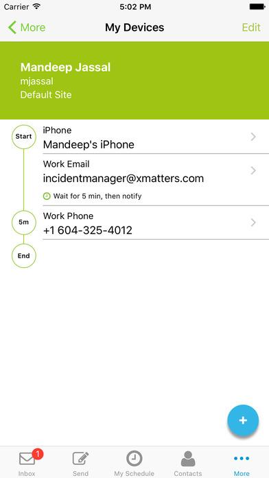 xMatters iPhone Screenshot 5