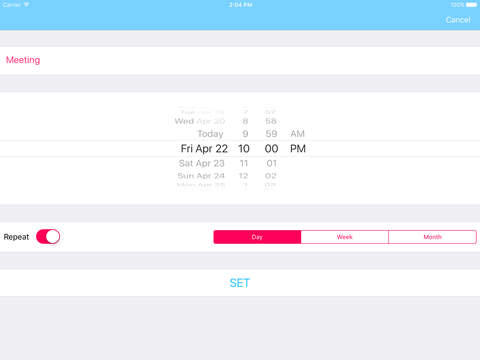 TimeTo - To Do List For iPhone, iPod and iPad Screenshots