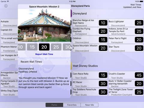 Disneyland Paris Wait Times iPad Screenshot 2