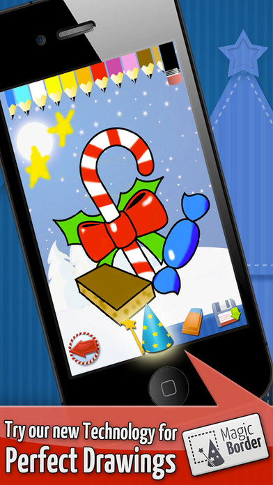 Christmas - Color Your Puzzle and Paint the Characters of Christmas - Coloring, Drawing and Painting Games for Kids iPhone Screenshot 3