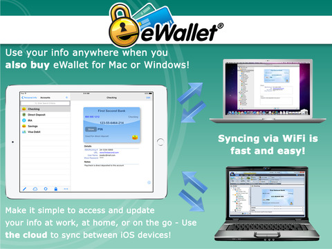 eWallet - Password Manager and Secure Storage Database Wallet screenshot