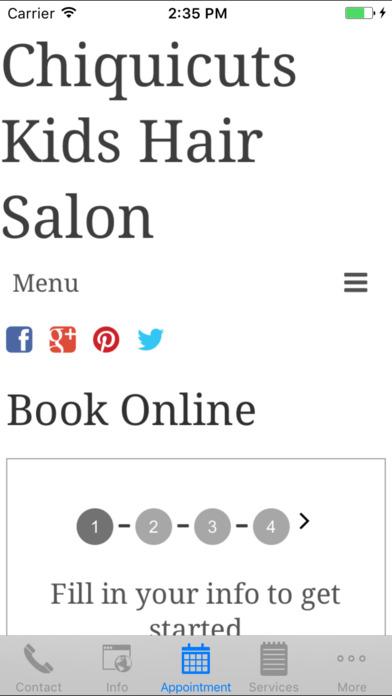 CHIQUICUTS Kids Hair Salon iPhone Screenshot 3